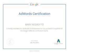 Mary Negrotto Media - Award 1