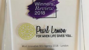 Pearl Lemon - Award 1