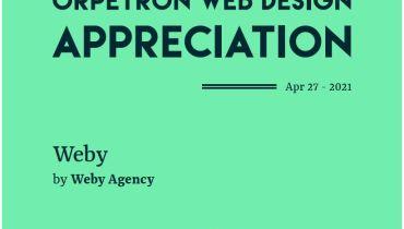 Weby Agency - Award 1