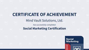 Mind Vault Solutions, Ltd. - Award 1