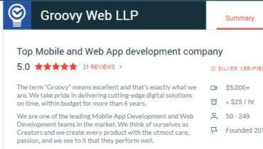Groovy Web - Award 1