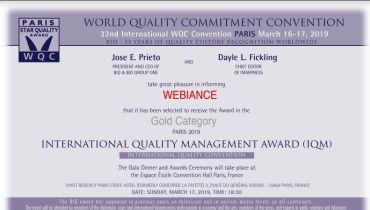 Webiance - Award 1