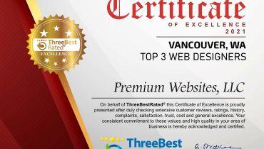 Premium Websites, LLC - Award 5