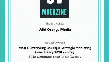 Wild Orange Media Ltd - Award 1