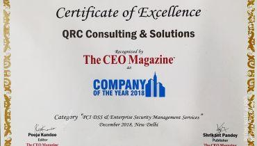 QRC Consulting & Solutions Pvt Ltd - Award 1