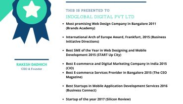 INDGLOBAL DIGITAL PVT LTD - DUBAI - Award 1