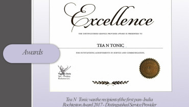 Tea n Tonic - Award 1