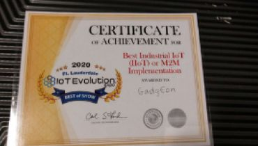 Gadgeon Systems Inc - Award 1