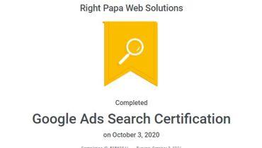 Rightpapa Web Solutions - Award 2