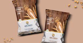 Arushvi Fresh Chakki Atta Package Design