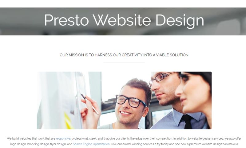 Presto Website Design - Photo - 3