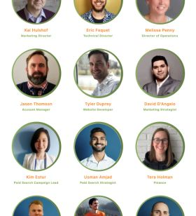 The full Canopy Digital Marketing team