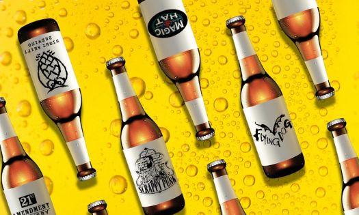 Craft beer bottles to represent best beer logo designs