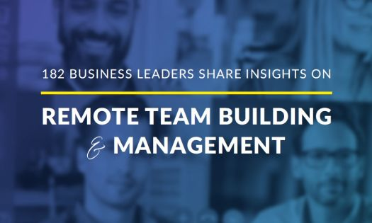 cover of the remote team building and management report - 2020/2021