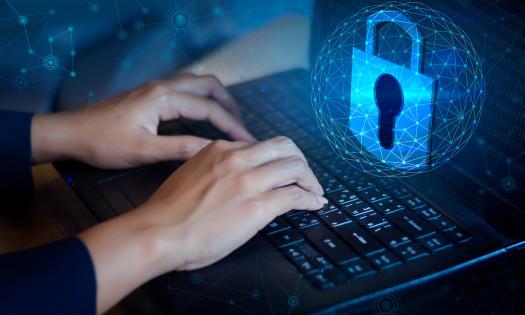 Cybersecurity Web Design Laptop