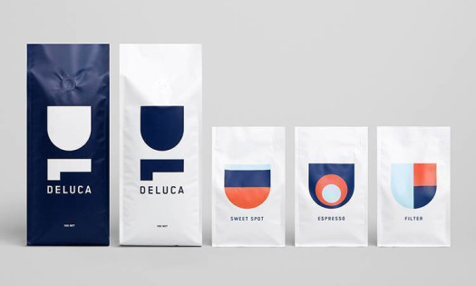 Top Coffee Designs Deluca Packaging Logo