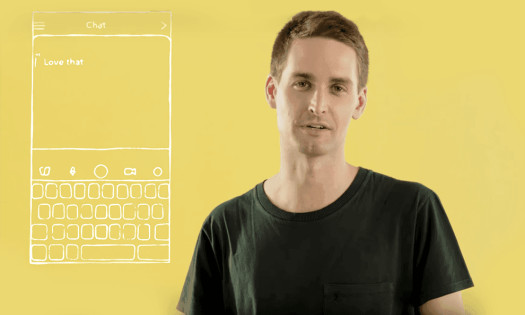 Snapchat New App Design Evan Spiegel Video