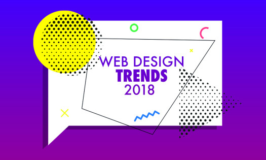 Best Web Design Trends 2018 Bright Colors Chatbot Geometric Shapes