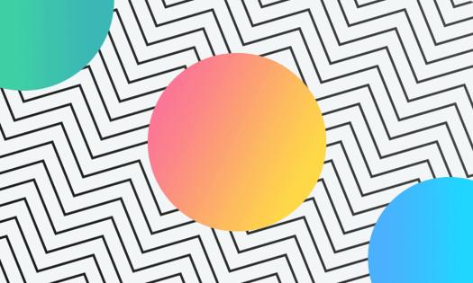 Gradient Design trend Circles Geometric Lines