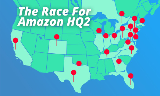 Amazon HQ2 Possible Locations Map