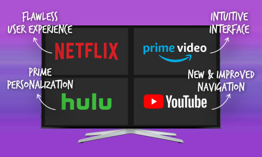 Video Streaming App Designs Features Netflix Hulu Prime Video YouTube
