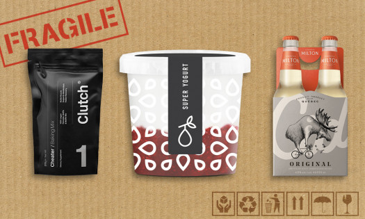 Creative Packaging Design Examples Fragile Box Icons