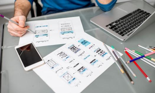 App Design Mobile-Friendly Website Designer Mockups