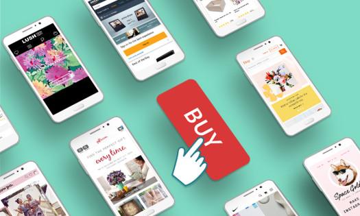 Mobile E-Commerce Sites iPhones Buy Button