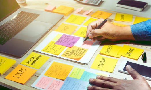 Digital Marketing Agency Campaign Post-It Notes Ideas