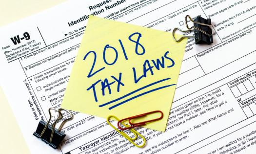 New 2018 Tax Plan Laws W-9 Form