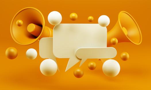Brand Identity Communication Chat Box Megaphone