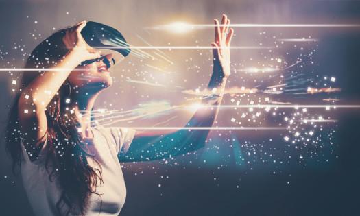 Virtual Reality Headset Marketing Campaign Woman