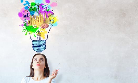Small Business Marketing Colorful Light Bulb Brand Ideas