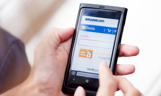 Amazon Shopping Marketing Search Smartphone