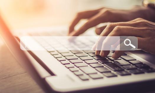 Search Engine Optimization Search Bar Laptop