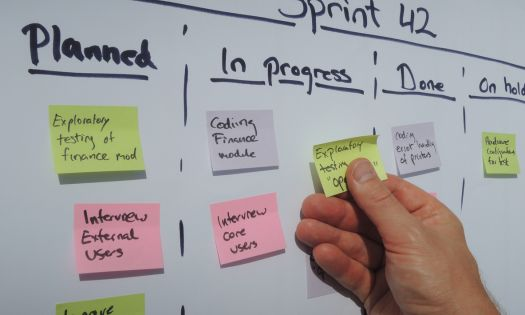 Design Sprint Post Its Whiteboard