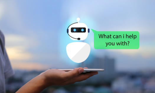 Chatbot Mobile Phone Design Icon What Can I Help You With