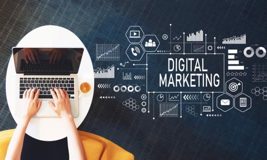 Digital Marketing Terms Laptop Marketer