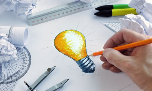 Product Design Light Bulb Idea Drawing