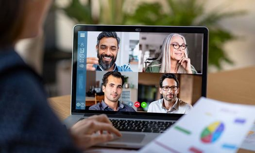 global team on video conference