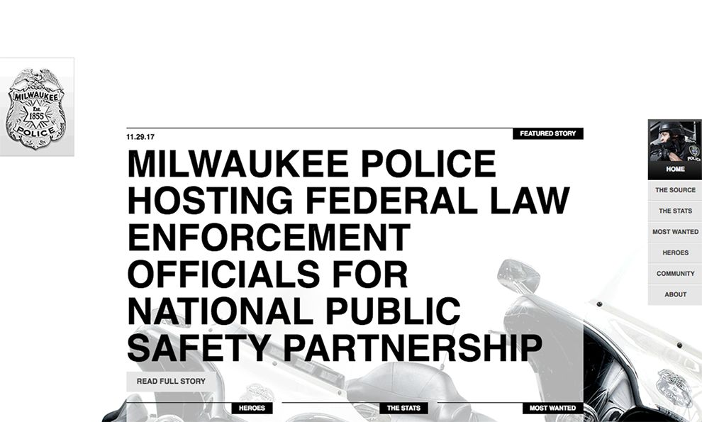 Milwaukee Police News Awesome Website Design