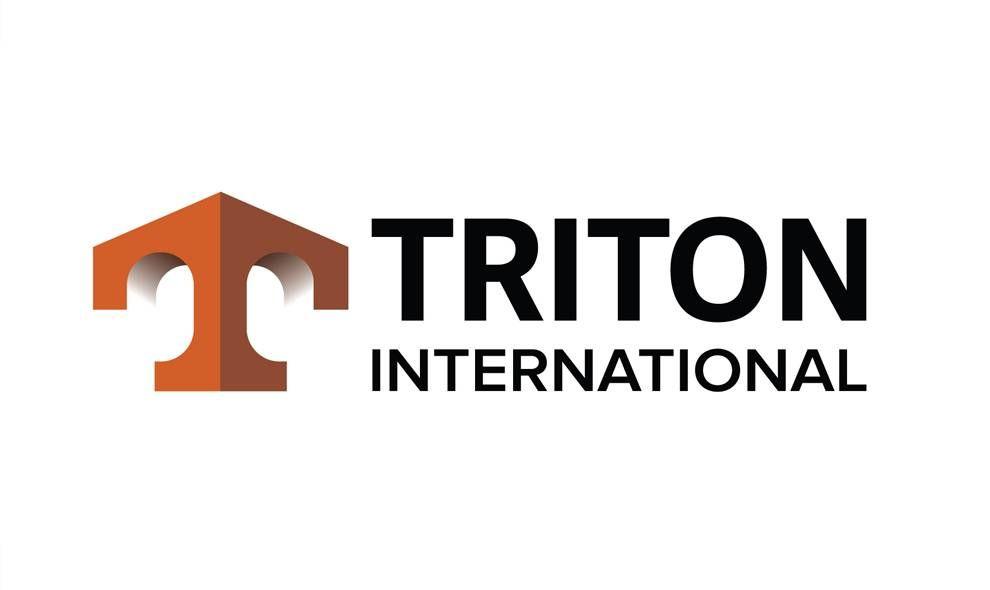 Triton International 3D Logo Design