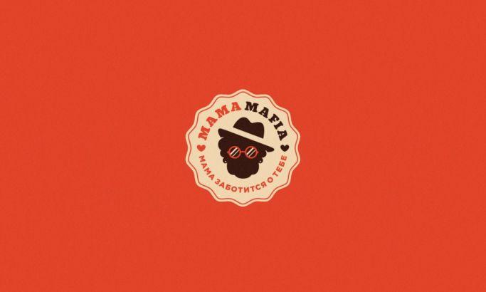 Mama Mafia Illustrated Logo Design