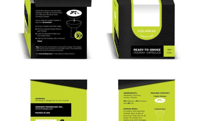 Hookaps Clean Package Design