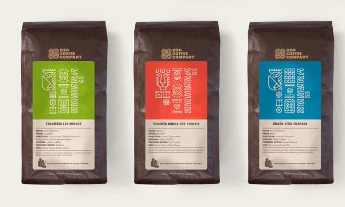 Ozo Coffee Company Awesome Package Design