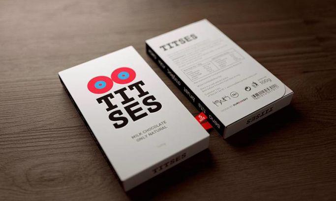 Titses Milk Chocolate Clean Package Design