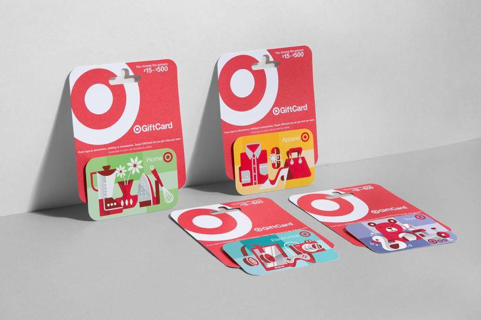 Target Gift Cards Illustrated Print Design