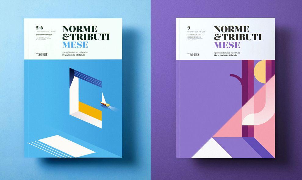 Norme Tributi Mese Covers Colorful Print Design