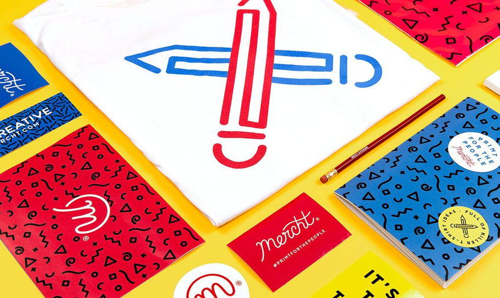 Mercht Illustrated Print Design