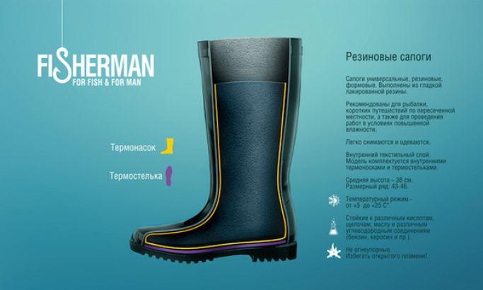 Fisherman Boots Fun Package Design